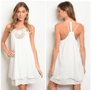 Entro Lace Panel Strappy Back Dress